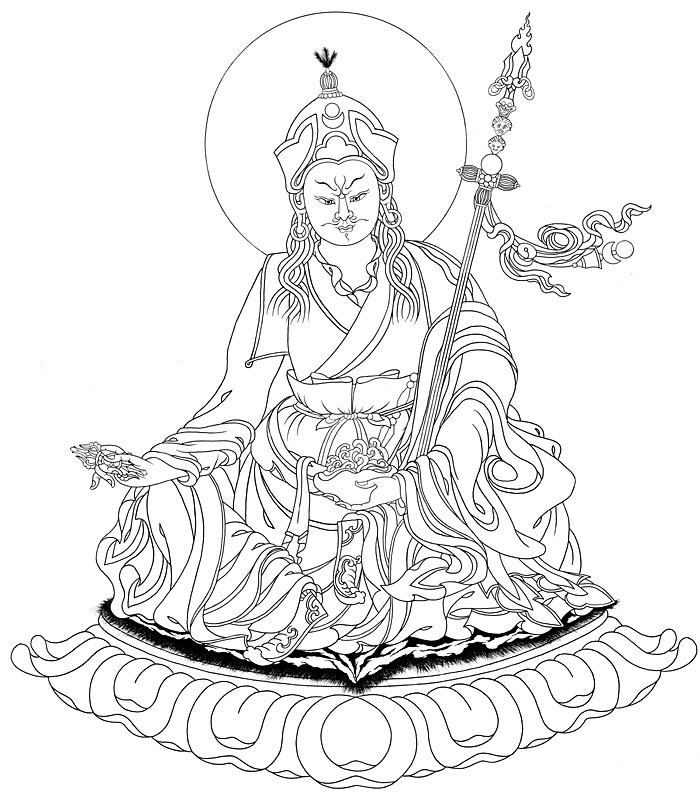 Buddha Face Line Drawing : Black and white tibetan buddha drawing pictures to pin on